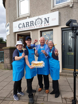 Celebrating being crowned Scotland's No.1 Fish & Chip Shop!!