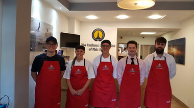 Jamie with 5 of the other Young Frier Semi-Finalists