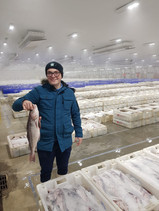 Jamie at Peterhead fish market