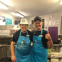 Lorraine and Jenny still smiling after a busy night!