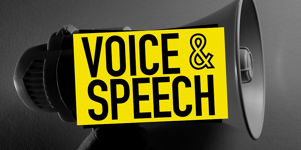 Voice & Speech (with ANTOINETTE ROBINSON)
