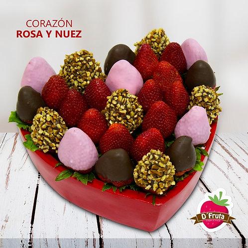 Corazón Rosa y Nuez