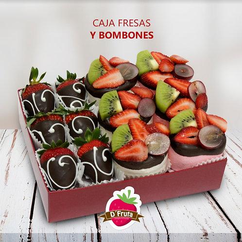 Caja de Fresas y Bombones