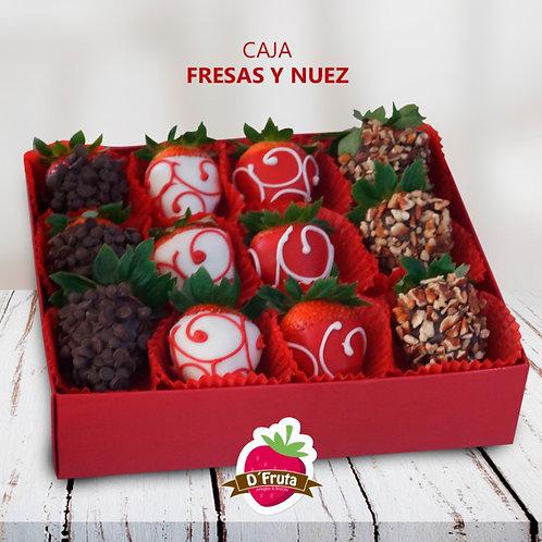 Caja Fresas y Nuez