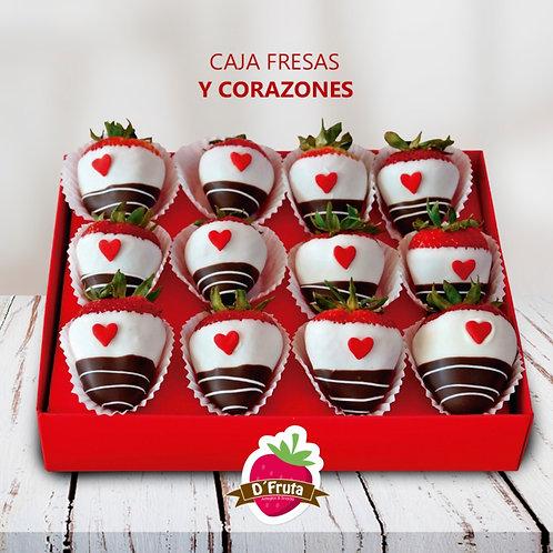 Caja de Fresas y Corazones