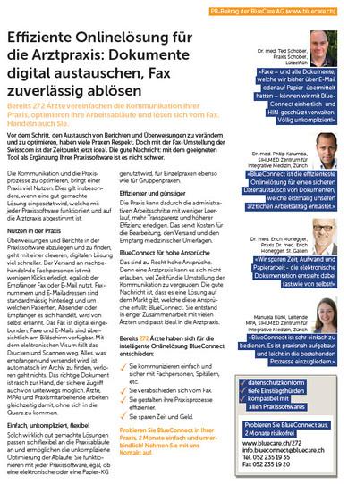"""""""Effiziente Onlinelösung für die Arztpraxis: Dokumente digital austauschen, Fax zuverlässig abl"""