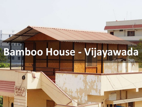 Building Bamboo House in Vijayawada, Andhra Pradesh