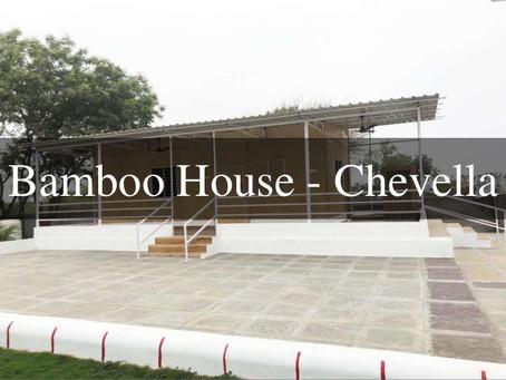 Constructing Bamboo House in Chevella, Telangana
