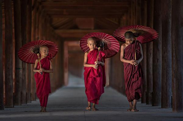 Jeunes moines bouddhistes