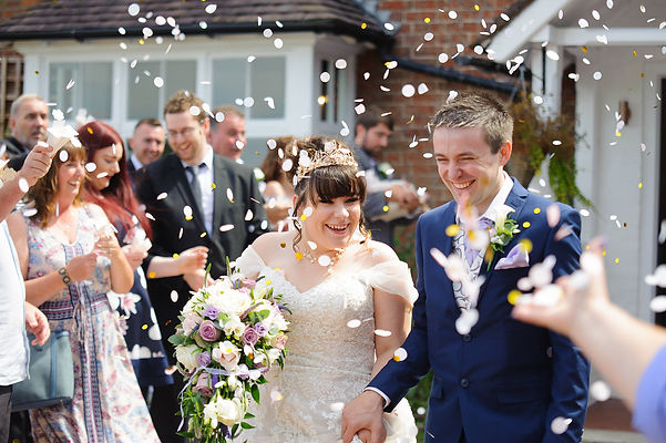 Wedding Photography Couple Confetti, Pete Davis Wedding Photographer, Midlands.