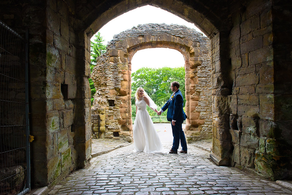 Bride and Groom at Dudley Castle Image by Pete Davis Photography