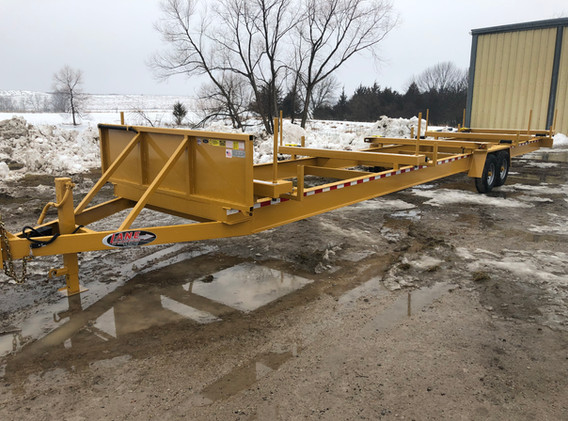40' Fixed Frame Stick Pipe Trailer