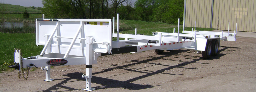 30' - 40' Extendable Stick Pipe Trailer