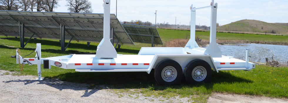 LANE Double Reel Turret Trailer Angled