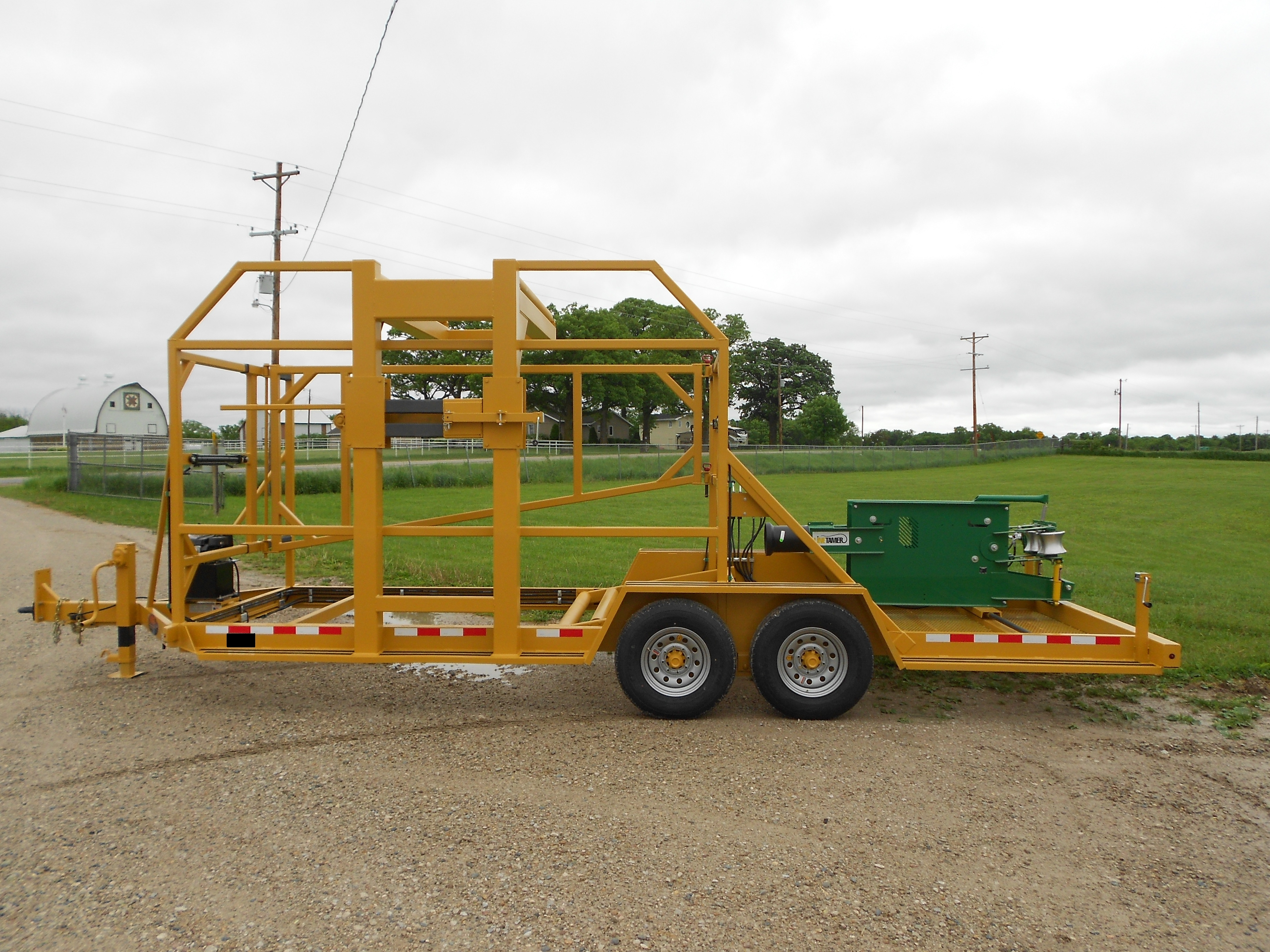 LCV COILED PIPE VERTICAL TRAILER