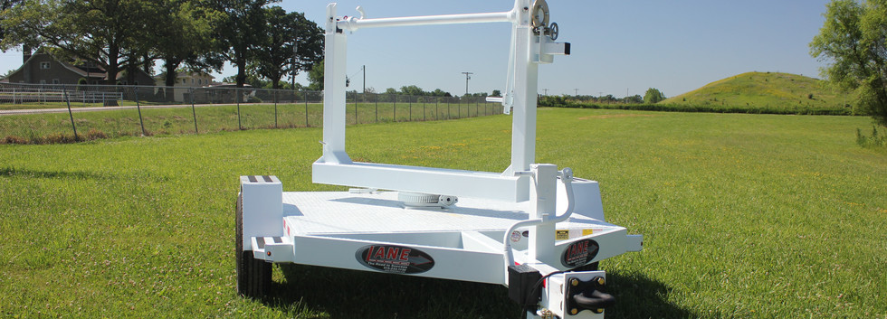 LANE Single Reel Turret Trailer Angled