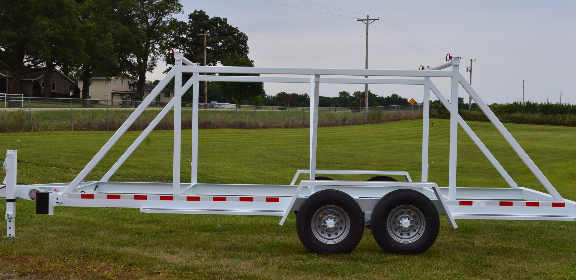 Double Reel Trailer Side View