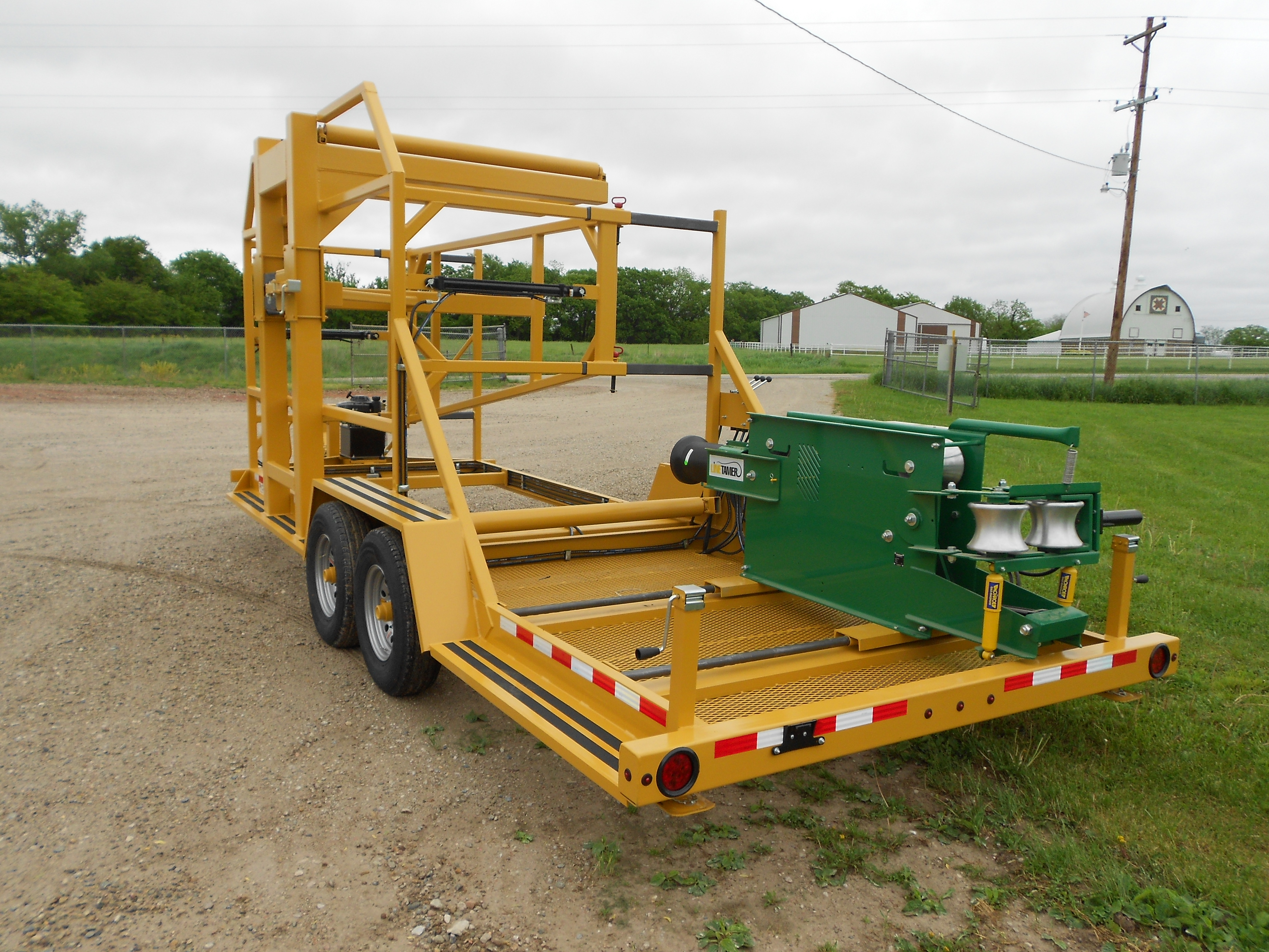 LCV COILED PIPE TRAILER