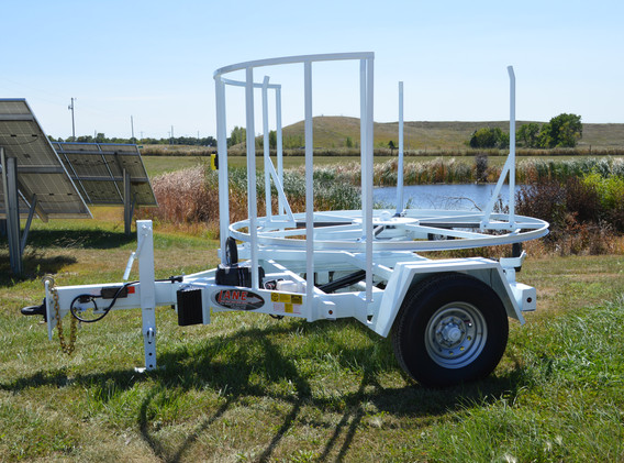 Self Loading Coiled Pipe Trailer - 7,000 lbs