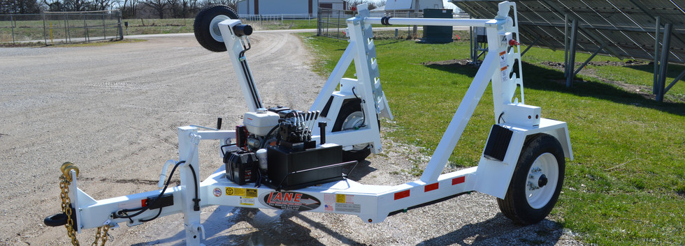 10K Cable Reel Trailer with Rewind / Retriever Kit