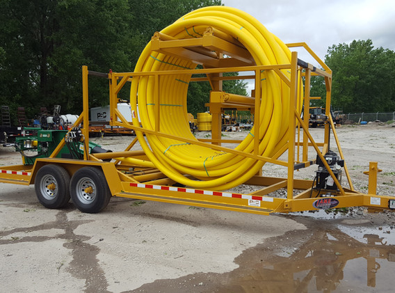 14K Vertical Coiled Pipe Trailer