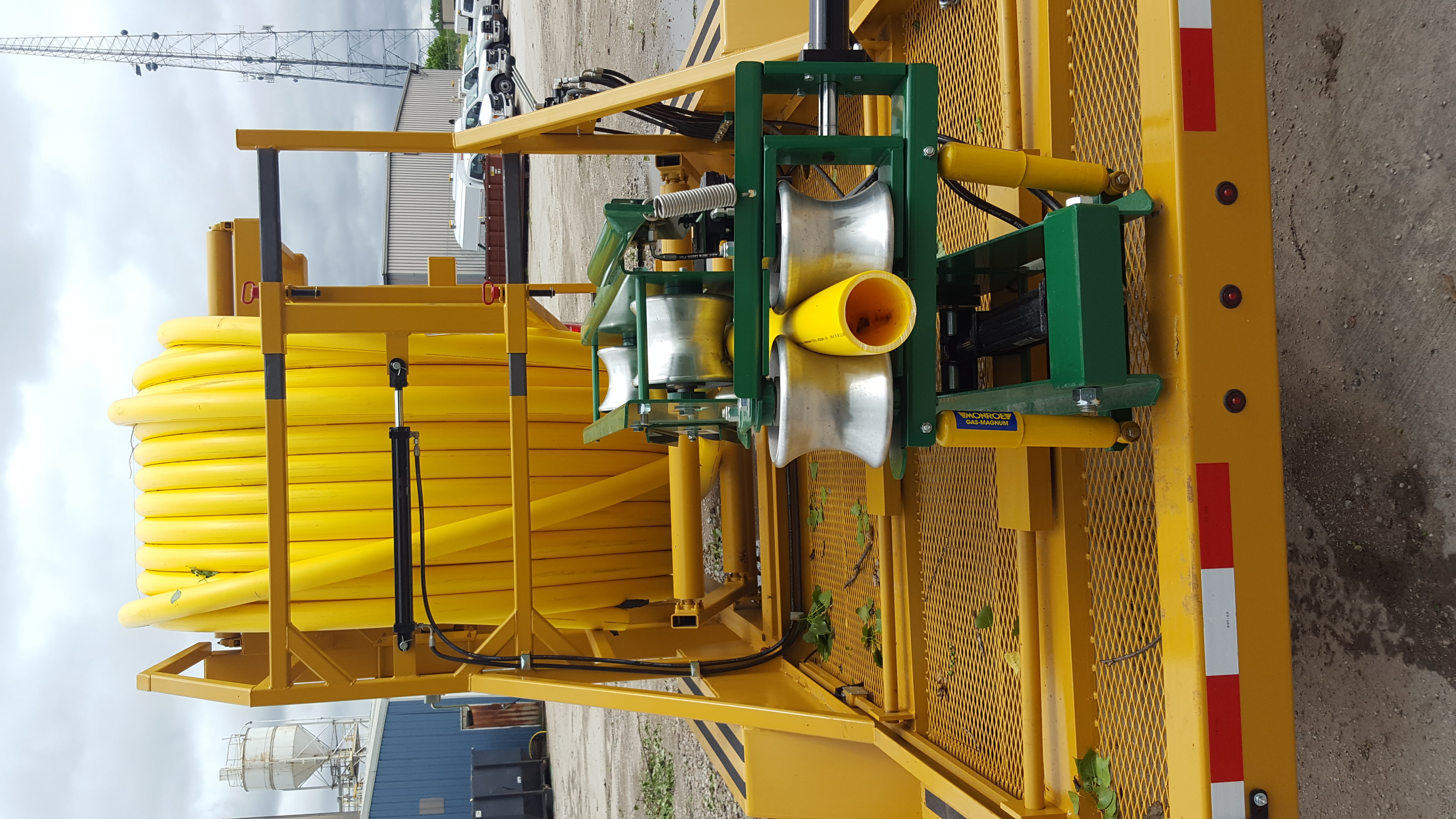 LCV COILED PIPE VERTICAL LINE TAMER