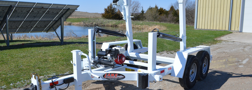 14K Tandem Axle Cable Reel Trailer