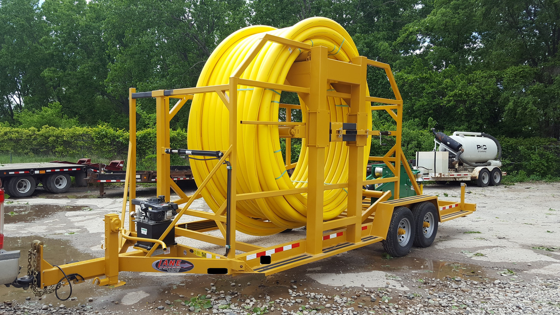 Vertical Coiled Pipe Trailers