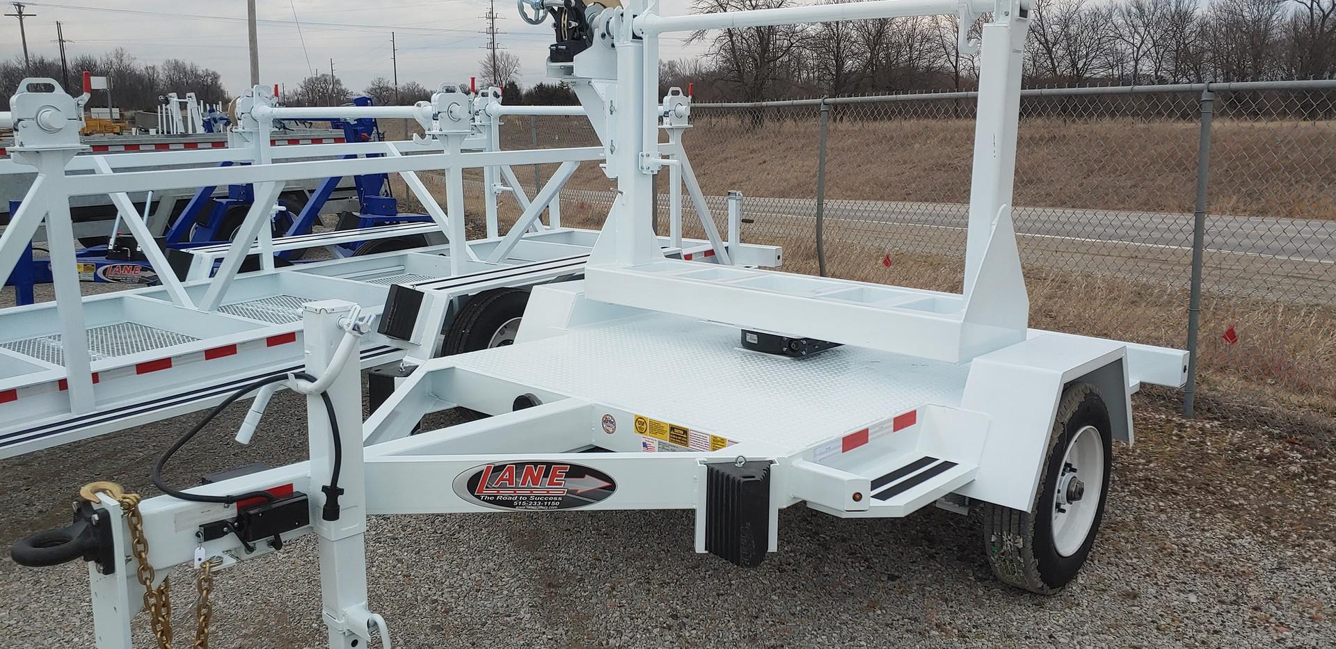 LANE Single Reel Turret Trailer - 10,000 lbs