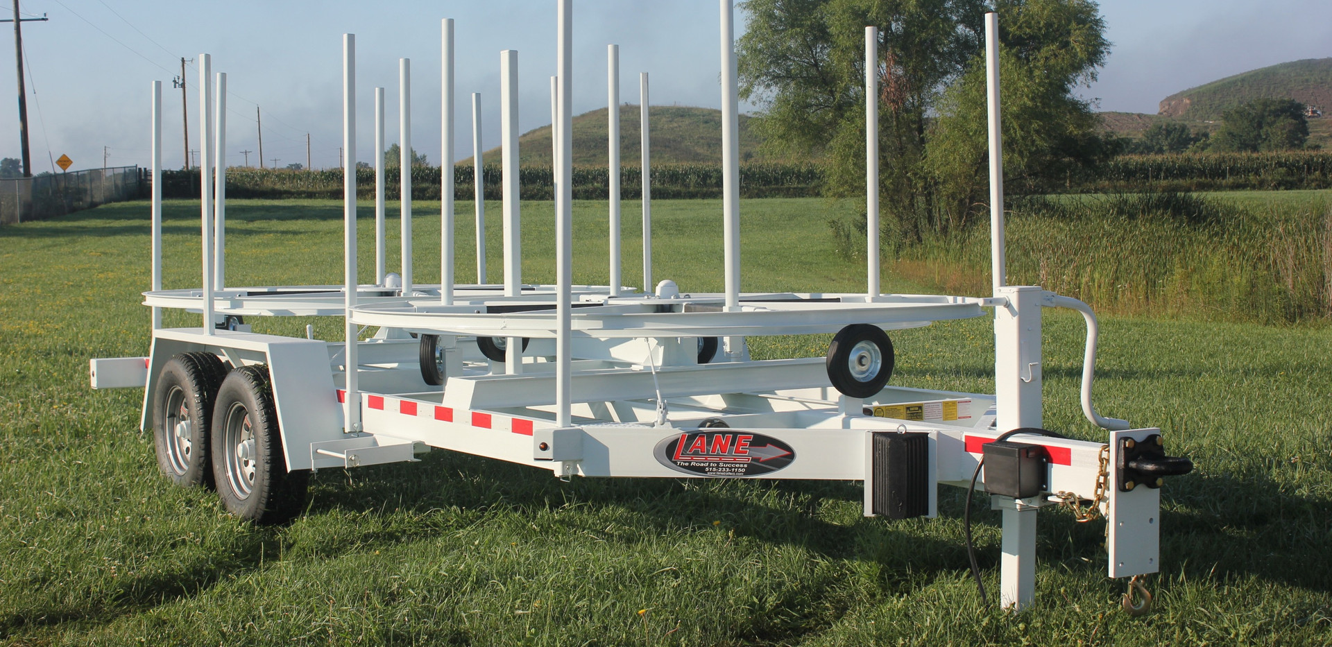 Double Coiled Pipe Trailer
