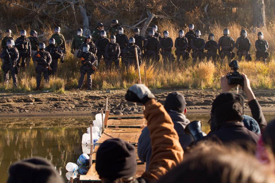"Riot Police Mace/Pepper Spray ""Water Protectors"" Near Standing Rock"