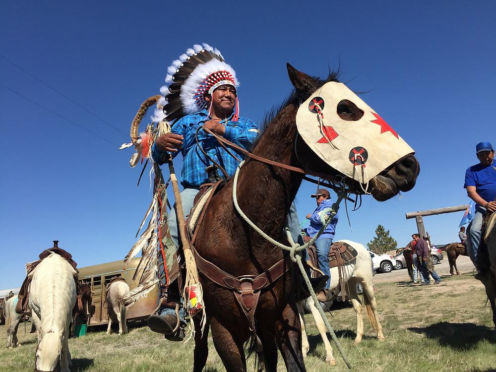 Photo taken April 27, 2018 on Treaty Ride near Fort Laramie, WY, by Todd Darling