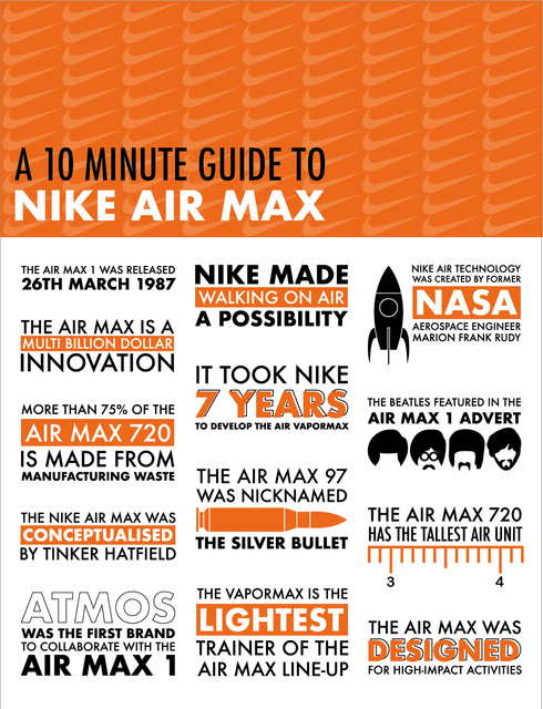 Nike Air Max Infographic