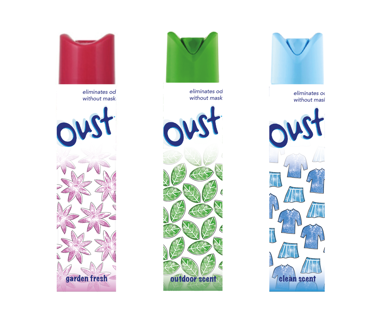 Redesigned Oust Packaging