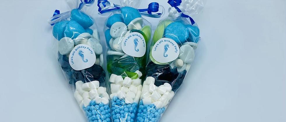Blue/white cones