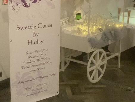 Denham Grove Wedding Fayre week - our chocolate fountain and sweet cart on display
