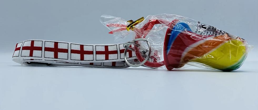 England lanyard with rock dummy
