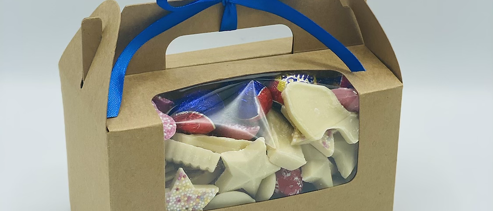 Thank you teacher Kraft box filled with choc or jelly sweets