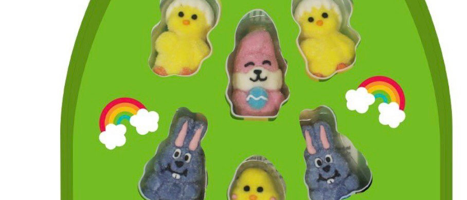Easter mallow charecter set reduced to clear
