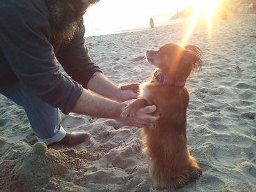 Mason and Joey at the Beach