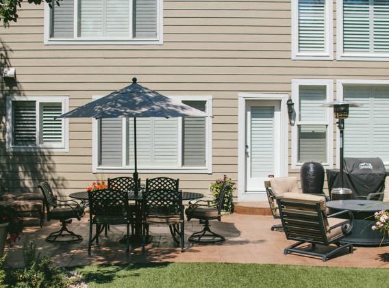 decorative back patio