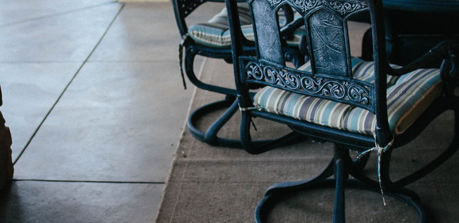 colored back patio