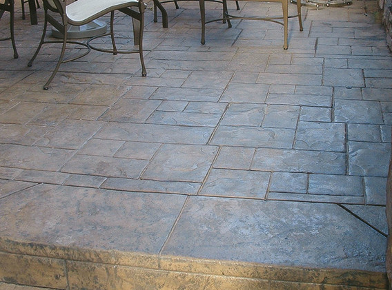 stamped back patio