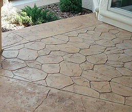 stamped finish concrete