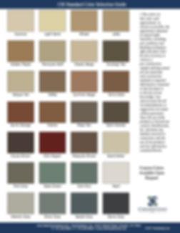 CSI Standard Color Chart