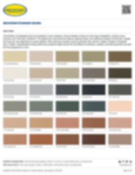 Brickform Standard Color Chart Page 1
