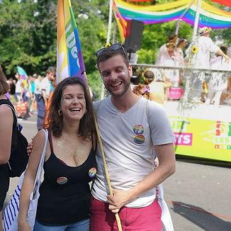 Pride de Genève - Romain Pilloud et Camille Cantone