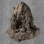 Buy Demonic chaos sacrifice stone (Resin Miniature) from Mystic Piegon Gaming