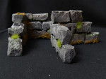 Buy Aged rock walls (L shape scatter terrain for Warhammer & Dungeons and Dragons) from Mystic Piegon Gaming