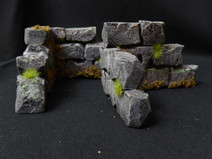 Aged rock walls (L shape scatter terrain for Warhammer & Dungeons and Dragons)